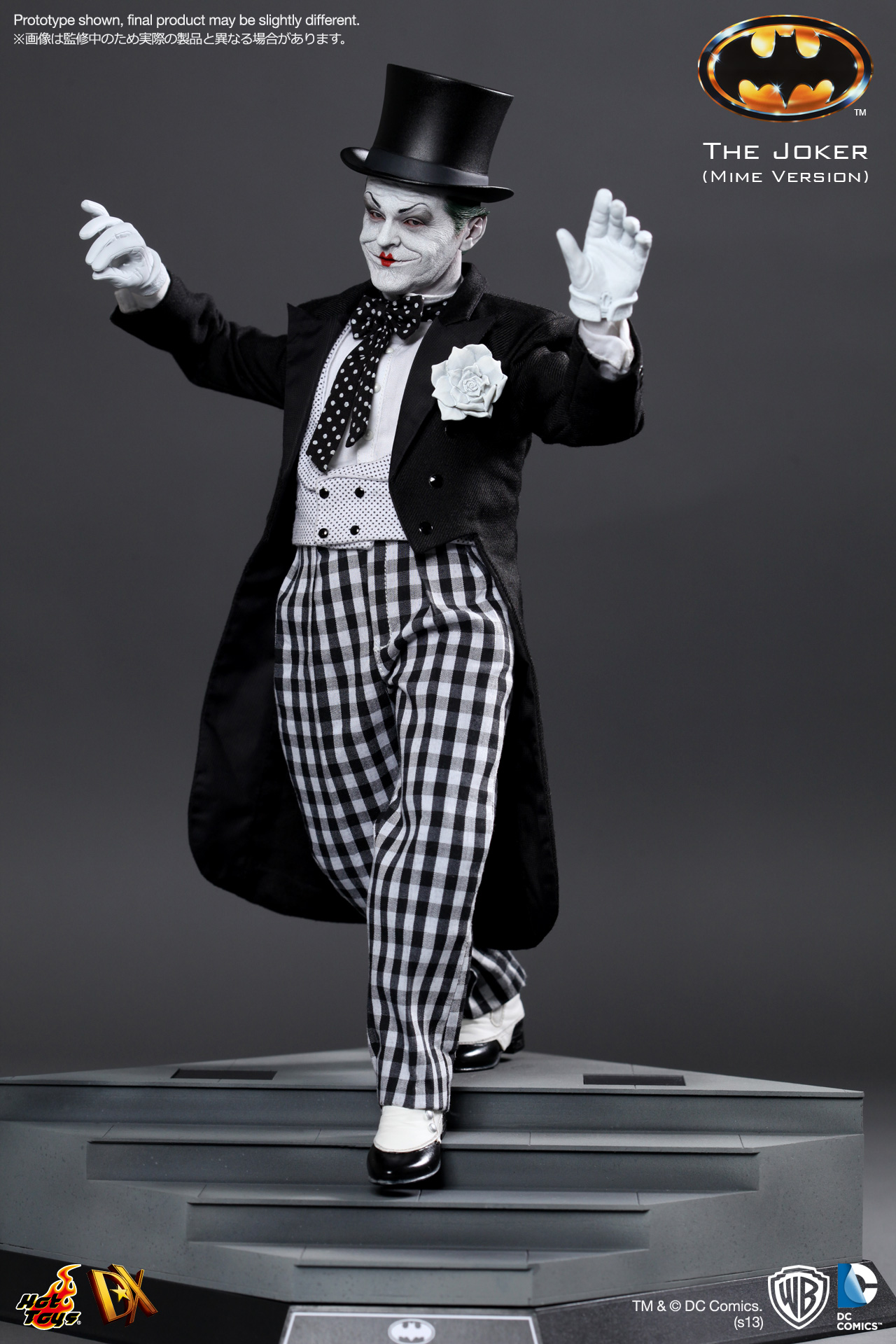 3 1//6 Hot Toys Joker Mime Version DX14 Feathers **US Seller**