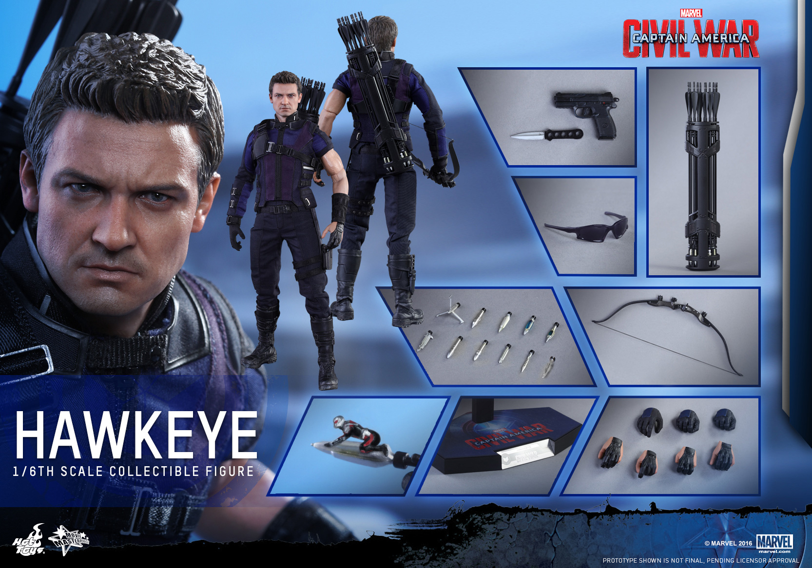 a703ad76 1/6 Hot Toys MMS358 Captain America: Civil War Hawkeye Collectible Figure  [Archive] - Sideshow Freaks