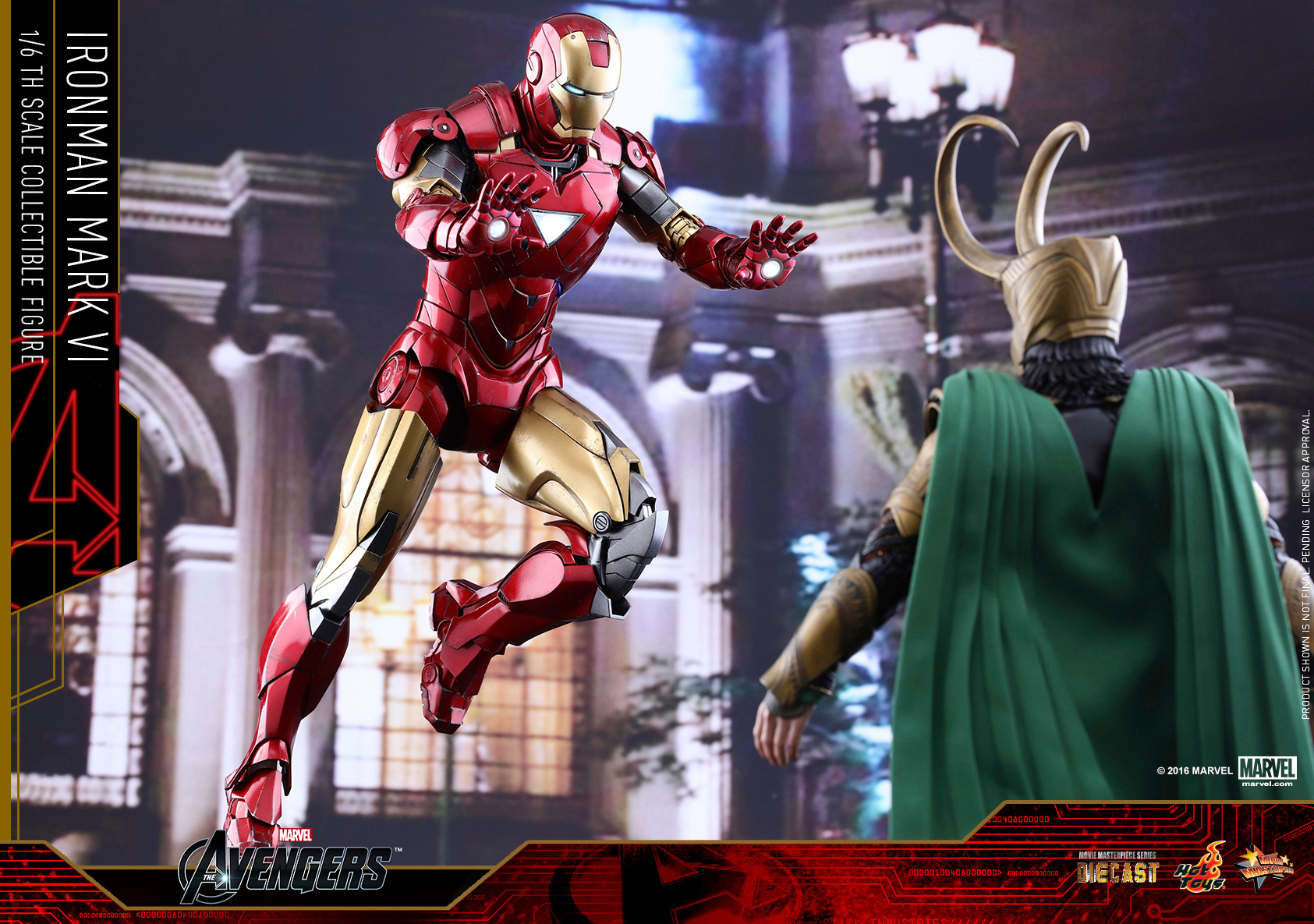 1/6 hot toys - mms378d17 - the avengers: iron man mark vi