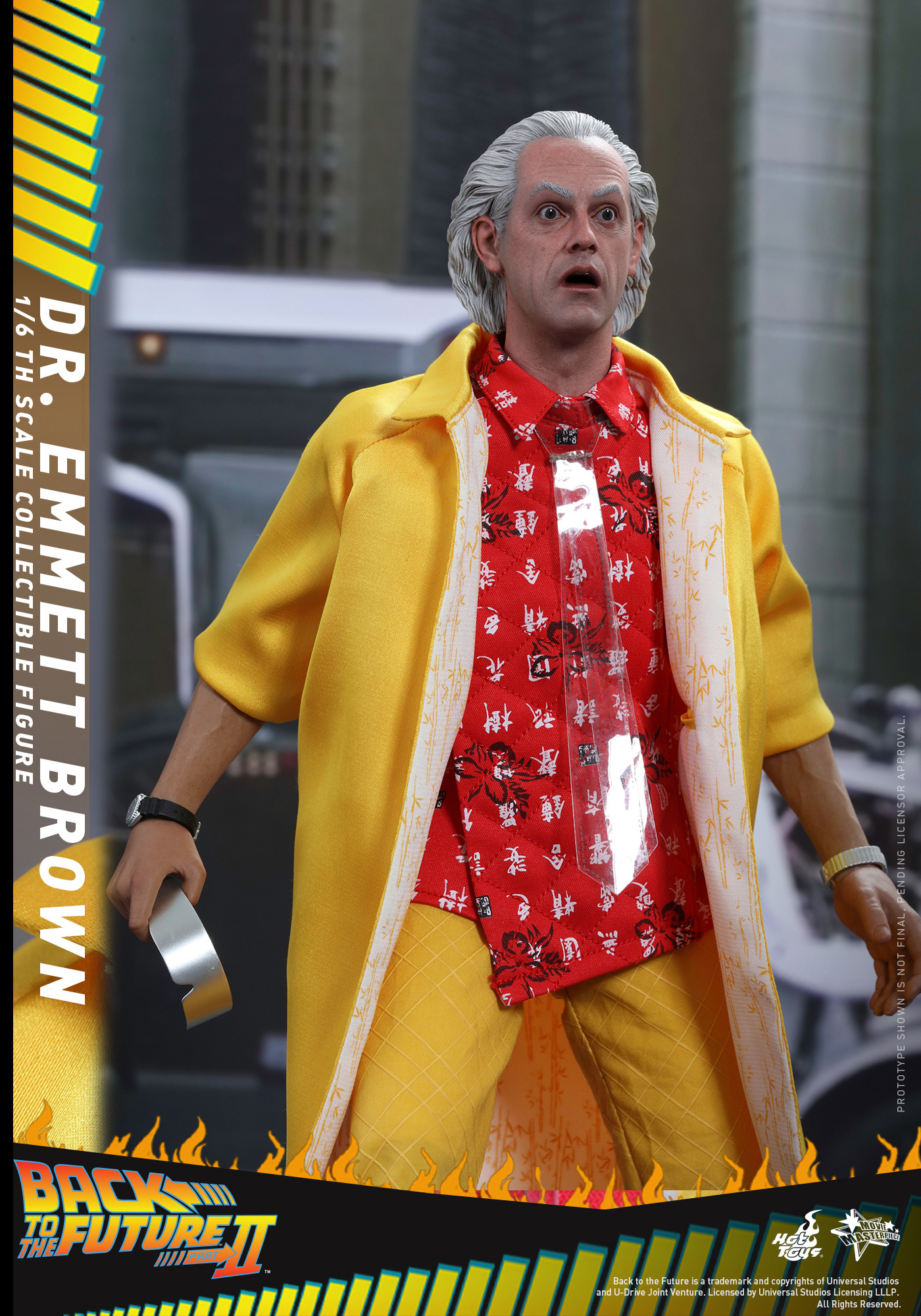 1/6 hot toys – mms – back to the future part ii: doc brown