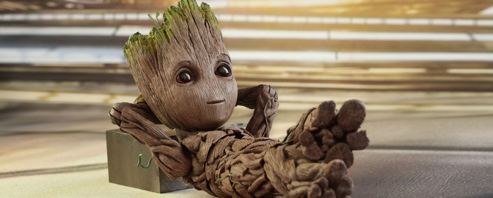 2 LMS MARVEL Groot Life-Size Action Figure Hot Toys Guardians of The Galaxy Vol
